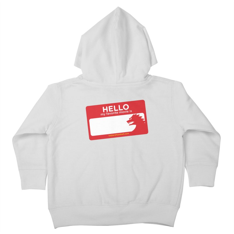 TFH Name Tag Kids Toddler Zip-Up Hoody by TRAILERS FROM HELL