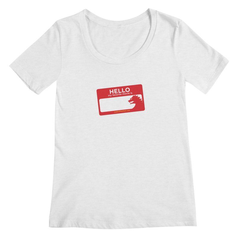 TFH Name Tag Women's Regular Scoop Neck by TRAILERS FROM HELL