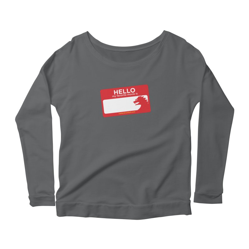 TFH Name Tag Women's Scoop Neck Longsleeve T-Shirt by TRAILERS FROM HELL
