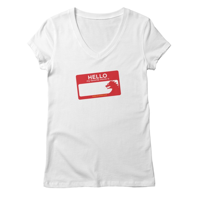 TFH Name Tag Women's Regular V-Neck by TRAILERS FROM HELL