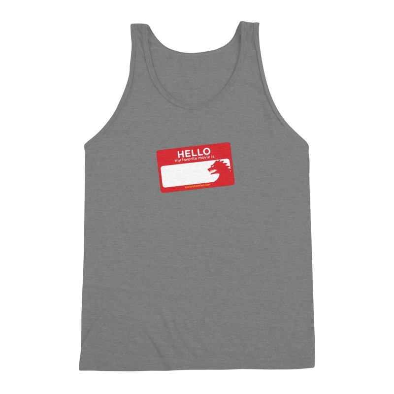 TFH Name Tag Men's Triblend Tank by TRAILERS FROM HELL