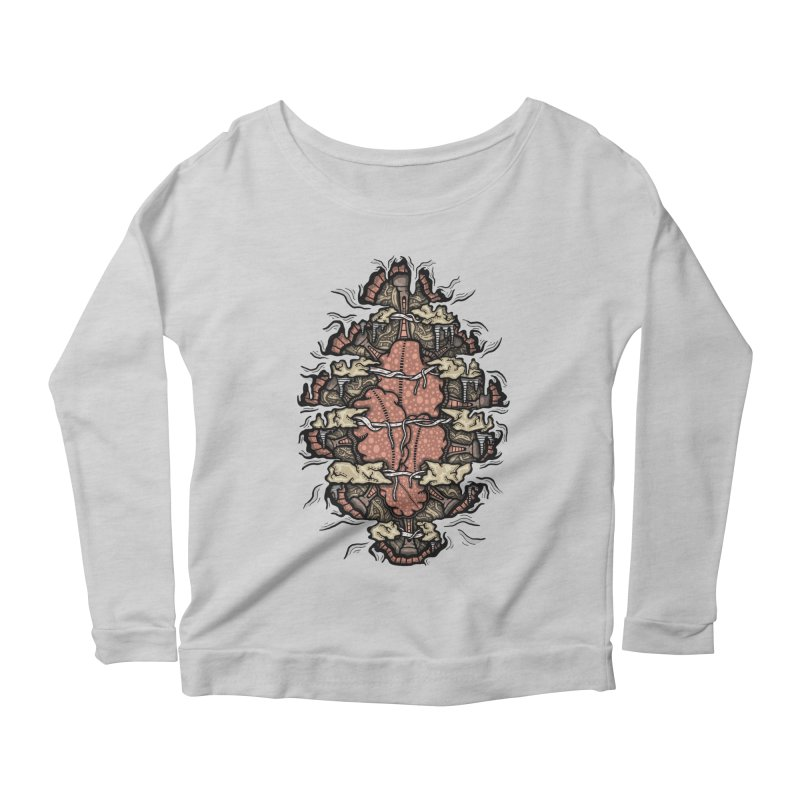 Inside of an Artificial Intelligence Women's Longsleeve Scoopneck  by Tralilulelo