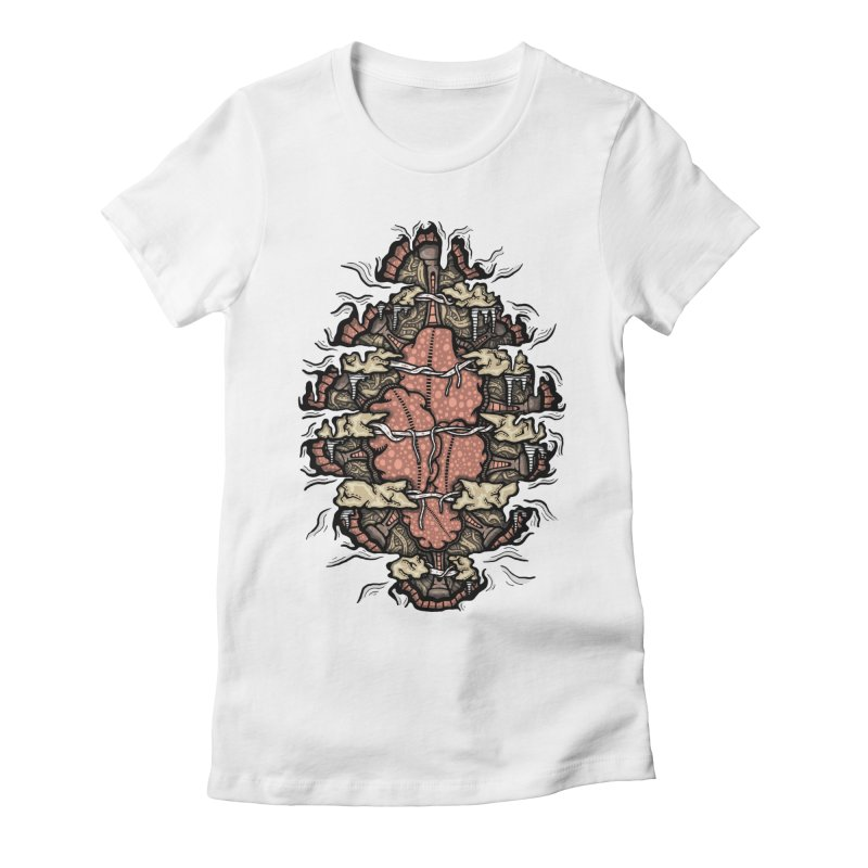 Inside of an Artificial Intelligence Women's Fitted T-Shirt by Tralilulelo