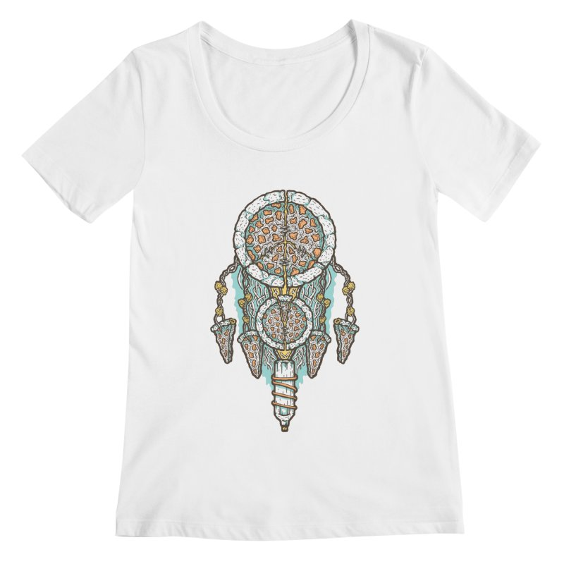 Dream of a Pizza Catcher Women's Scoopneck by Tralilulelo