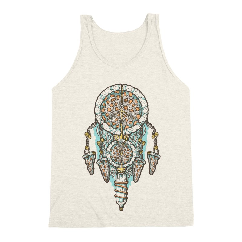 Dream of a Pizza Catcher Men's Triblend Tank by Tralilulelo