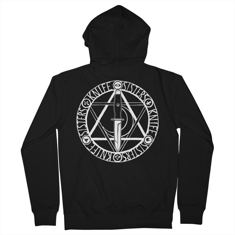 Knife Sisters Logo Men's French Terry Zip-Up Hoody by Transcenders