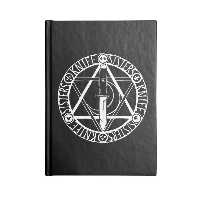 Knife Sisters Logo in Blank Journal Notebook by Transcenders