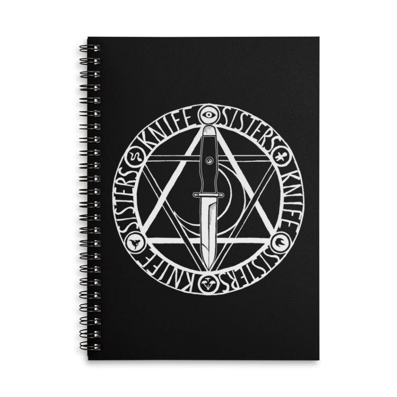 Knife Sisters Logo Accessories Lined Spiral Notebook by Transcenders
