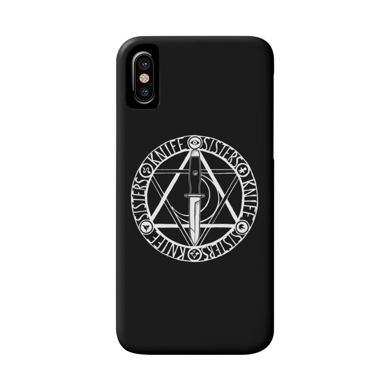 Knife Sisters Logo in iPhone X / XS Phone Case Slim by Transcenders