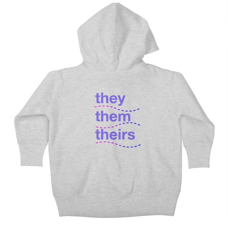 TCH they swag Kids Baby Zip-Up Hoody by Transchance Health's Artist Shop