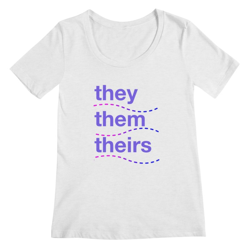 TCH they swag Women's Regular Scoop Neck by Transchance Health's Artist Shop
