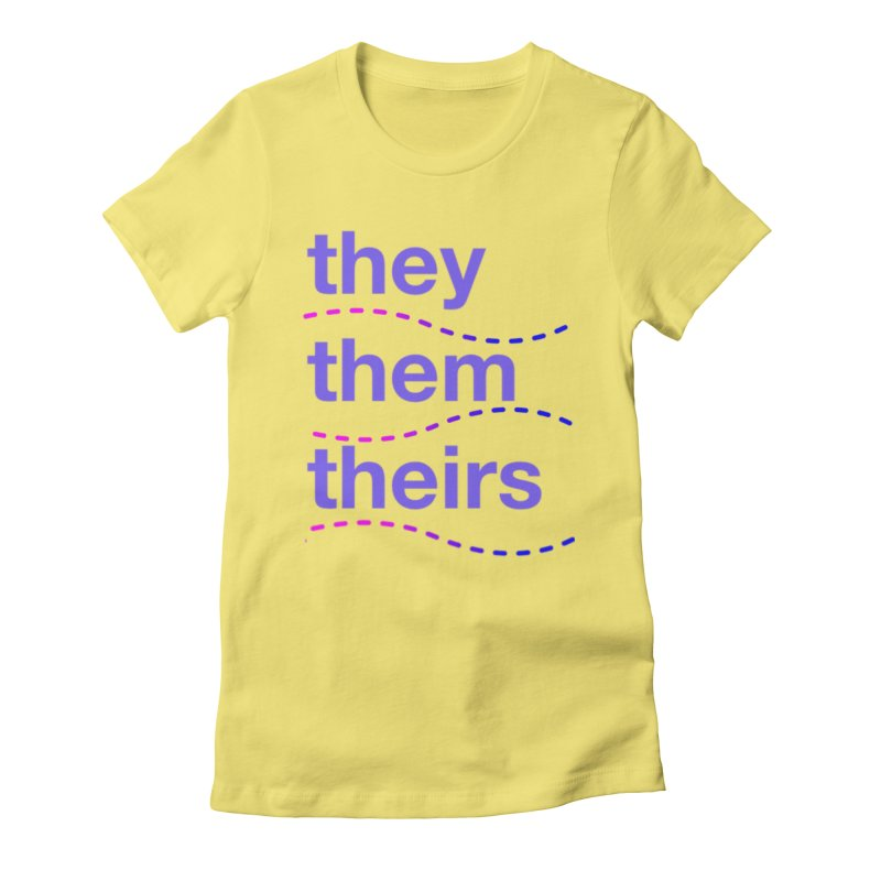 TCH they swag Women's Fitted T-Shirt by Transchance Health's Artist Shop