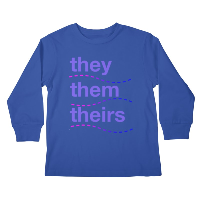 TCH they swag Kids Longsleeve T-Shirt by Transchance Health's Artist Shop