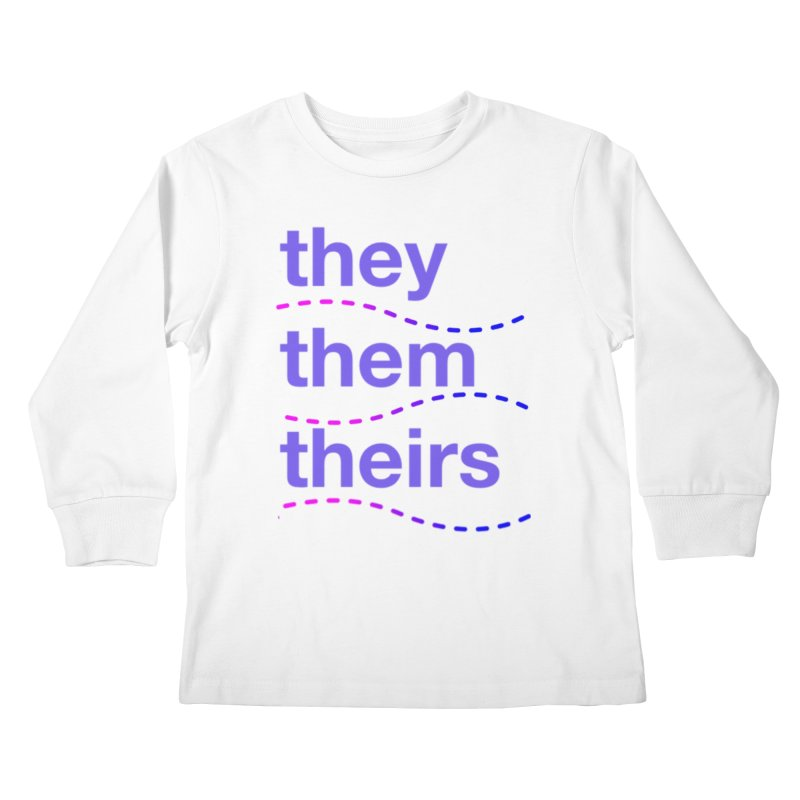 TCH they swag Kids Longsleeve T-Shirt by Transchance Health's Artist Shop