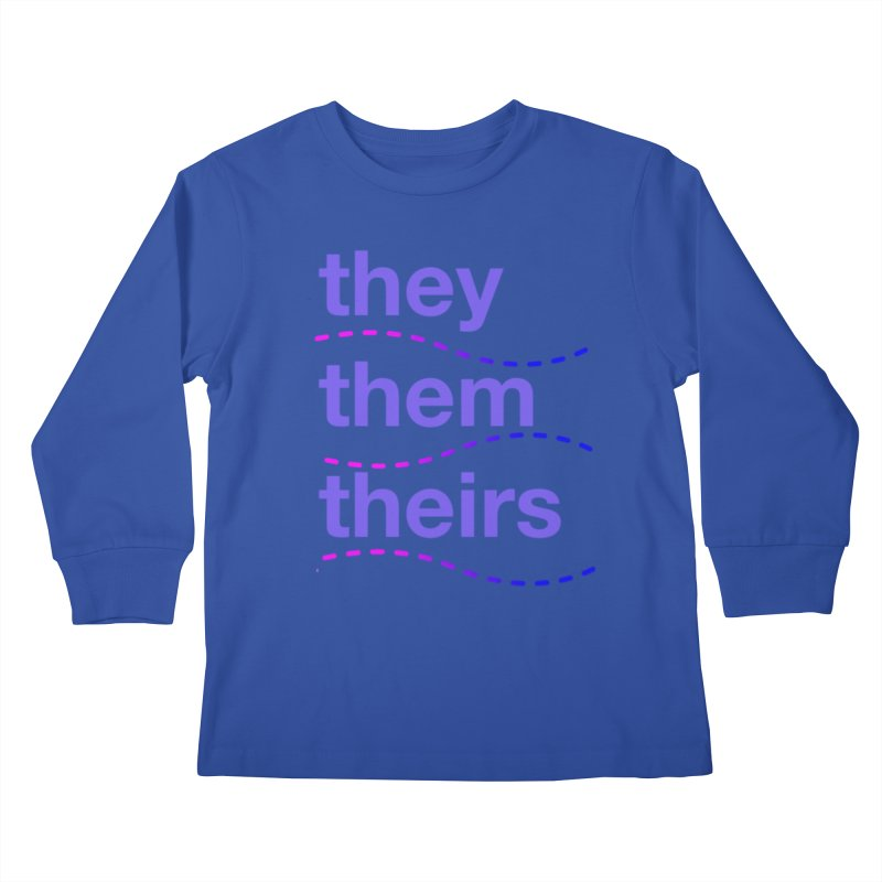 TCH they swag Kids Longsleeve T-Shirt by transchancehealth's Artist Shop