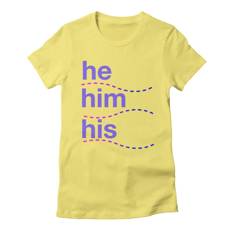 TCH he swag Women's Fitted T-Shirt by Transchance Health's Artist Shop