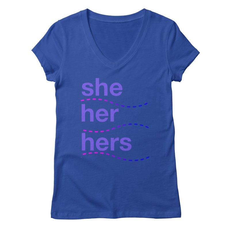TCH she swag Women's Regular V-Neck by transchancehealth's Artist Shop