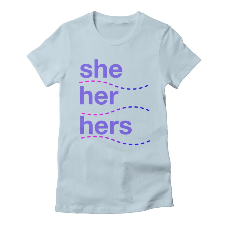 TCH she swag Women's Fitted T-Shirt by Transchance Health's Artist Shop