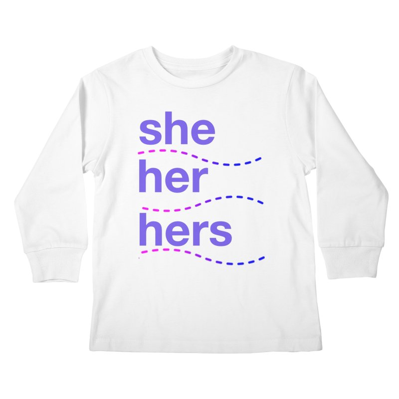 TCH she swag Kids Longsleeve T-Shirt by Transchance Health's Artist Shop
