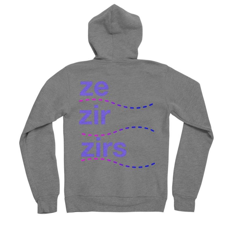 TCH ze zir swag Women's Sponge Fleece Zip-Up Hoody by Transchance Health's Artist Shop