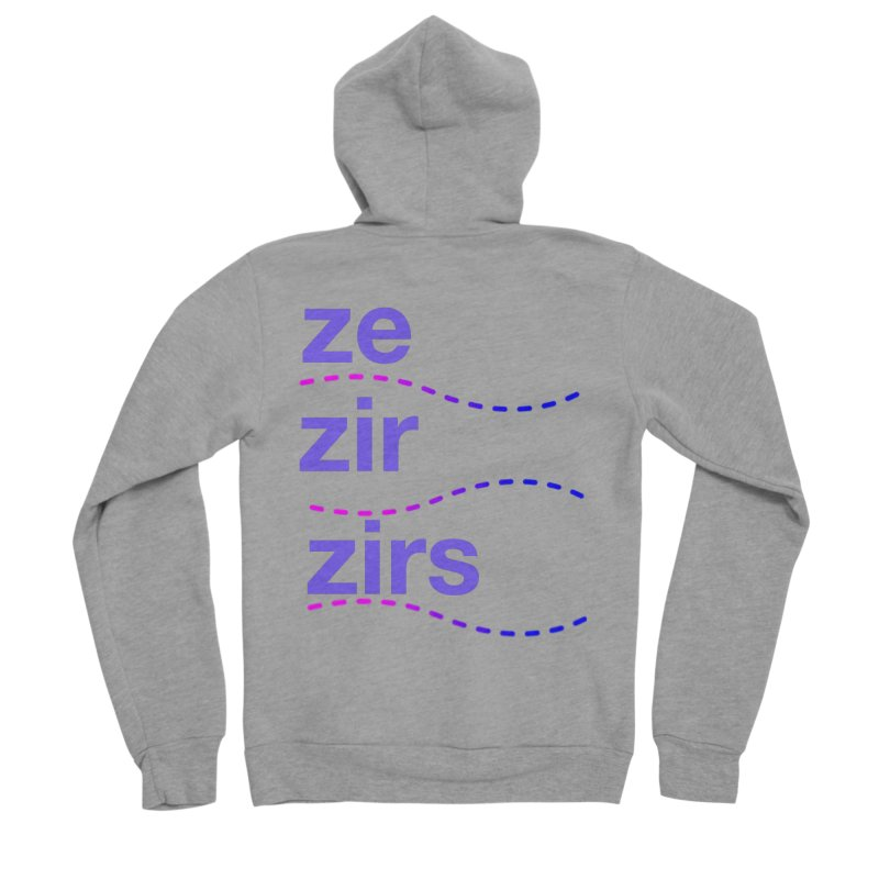TCH ze zir swag Women's Sponge Fleece Zip-Up Hoody by transchancehealth's Artist Shop