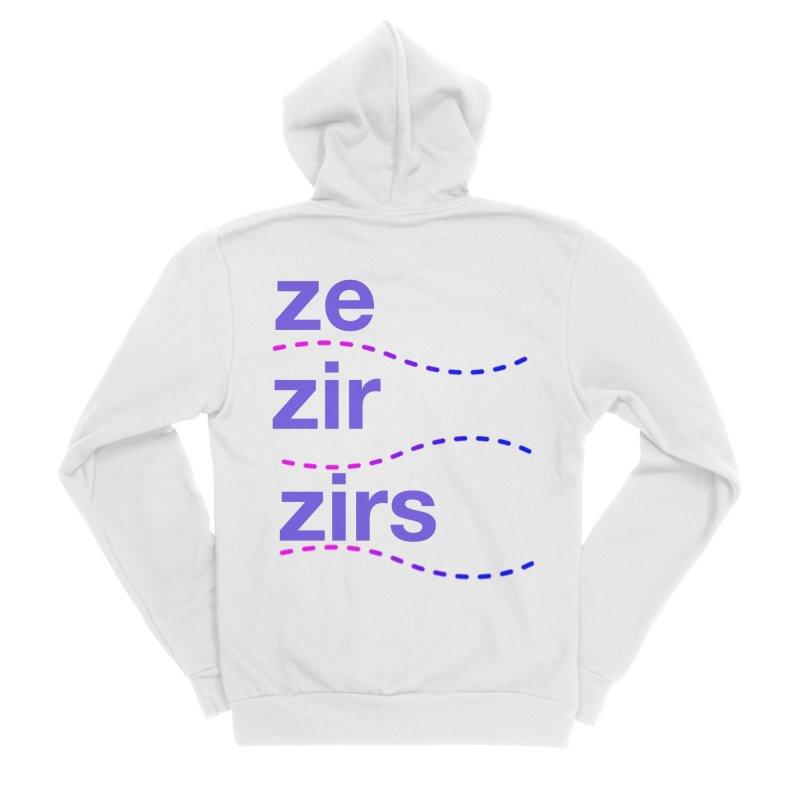 TCH ze zir swag Women's Sponge Fleece Zip-Up Hoody by transchancehealth's Artist Shop