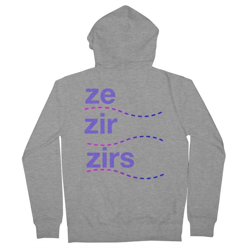 TCH ze zir swag Women's Zip-Up Hoody by Transchance Health's Artist Shop