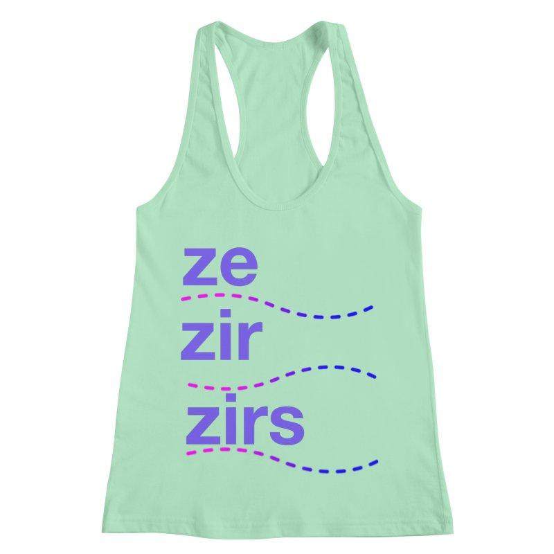 TCH ze zir swag Women's Racerback Tank by Transchance Health's Artist Shop