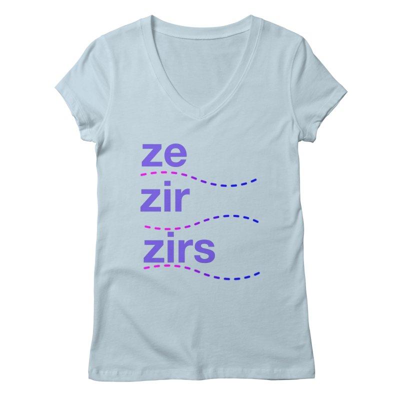 TCH ze zir swag Women's Regular V-Neck by transchancehealth's Artist Shop