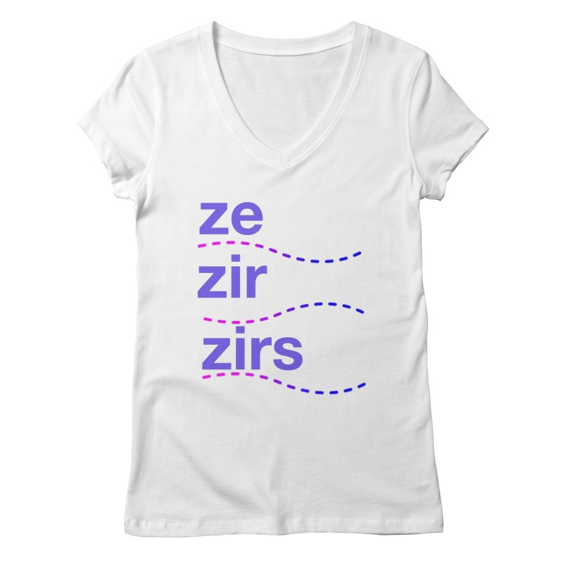 TCH ze zir swag Women's Regular V-Neck by Transchance Health's Artist Shop