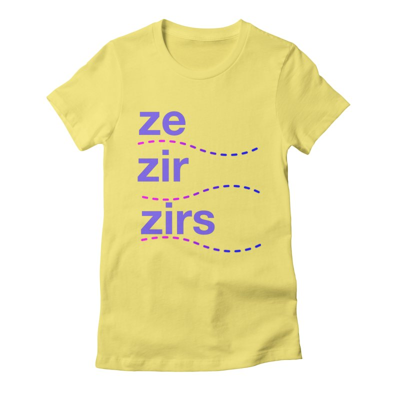 TCH ze zir swag Women's Fitted T-Shirt by Transchance Health's Artist Shop