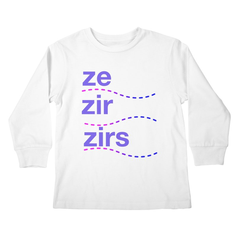 TCH ze zir swag Kids Longsleeve T-Shirt by Transchance Health's Artist Shop