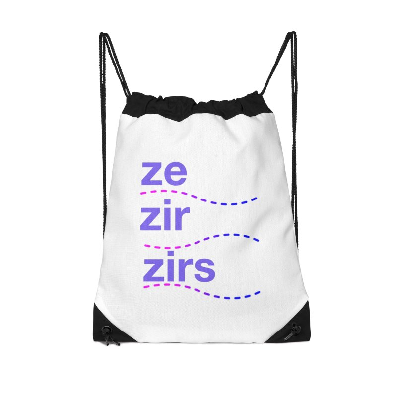 TCH ze zir swag Accessories Drawstring Bag Bag by Transchance Health's Artist Shop