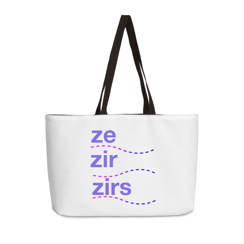 TCH ze zir swag Accessories Weekender Bag Bag by Transchance Health's Artist Shop