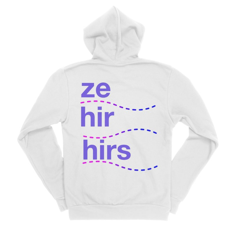 TCH ze hir swag Women's Sponge Fleece Zip-Up Hoody by transchancehealth's Artist Shop