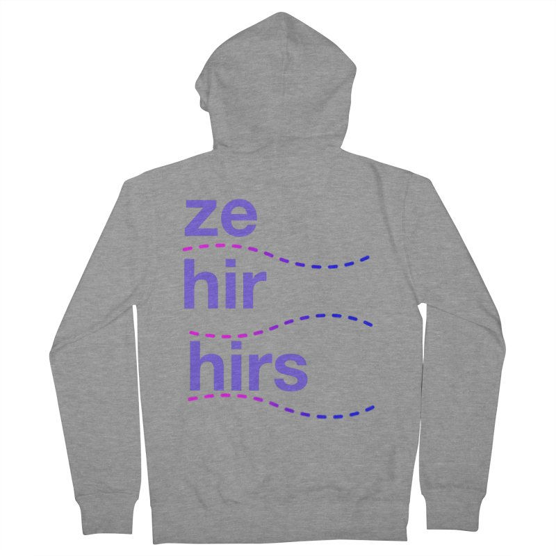 TCH ze hir swag Women's French Terry Zip-Up Hoody by Transchance Health's Artist Shop