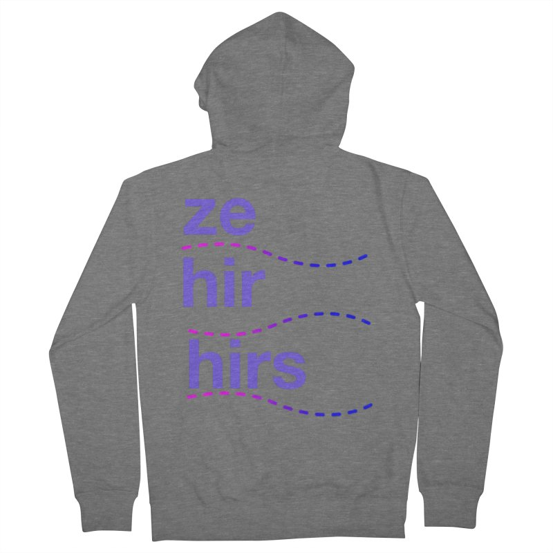 TCH ze hir swag Men's Zip-Up Hoody by Transchance Health's Artist Shop
