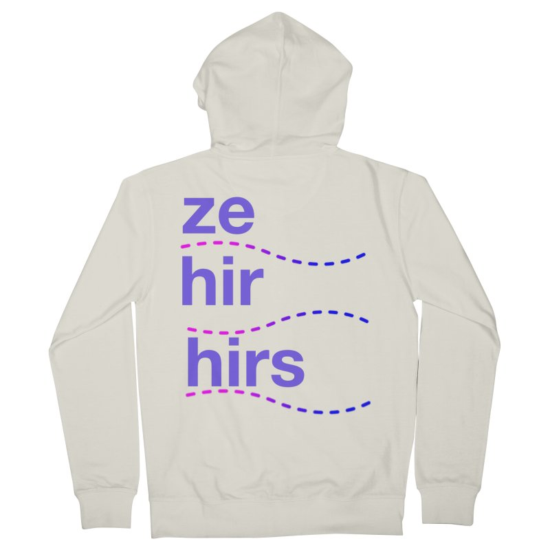 TCH ze hir swag Men's French Terry Zip-Up Hoody by Transchance Health's Artist Shop
