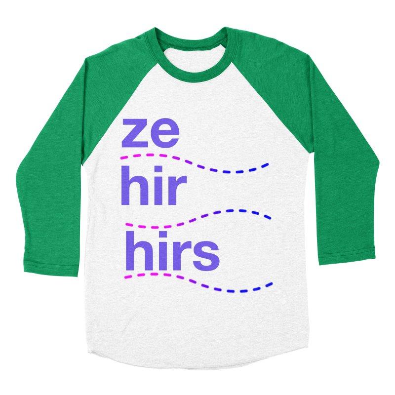 TCH ze hir swag Men's Baseball Triblend Longsleeve T-Shirt by Transchance Health's Artist Shop