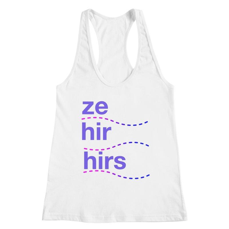 TCH ze hir swag Women's Tank by Transchance Health's Artist Shop