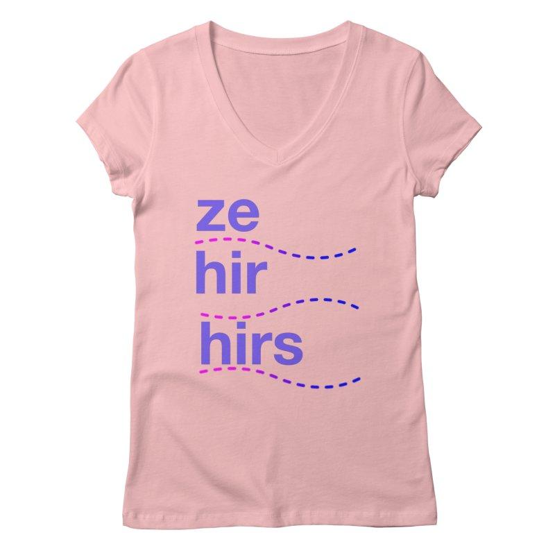 TCH ze hir swag Women's Regular V-Neck by transchancehealth's Artist Shop