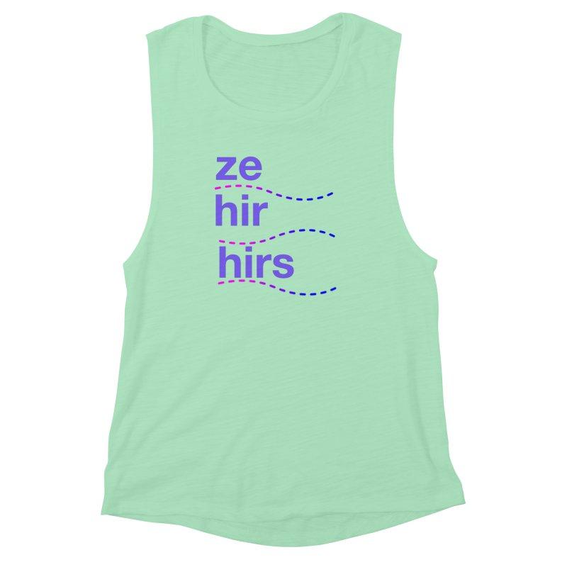 TCH ze hir swag Women's Muscle Tank by Transchance Health's Artist Shop
