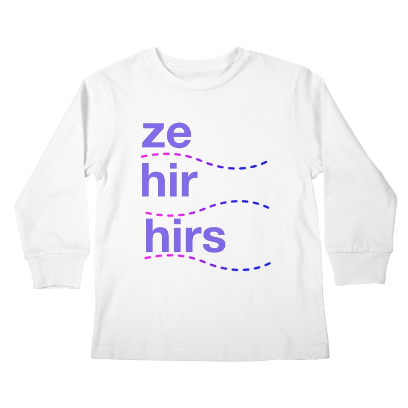 TCH ze hir swag Kids Longsleeve T-Shirt by Transchance Health's Artist Shop