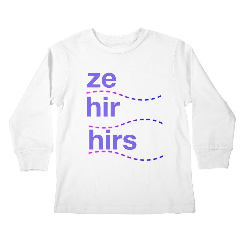 TCH ze hir swag Kids Longsleeve T-Shirt by Transchance Health's Artist Shop