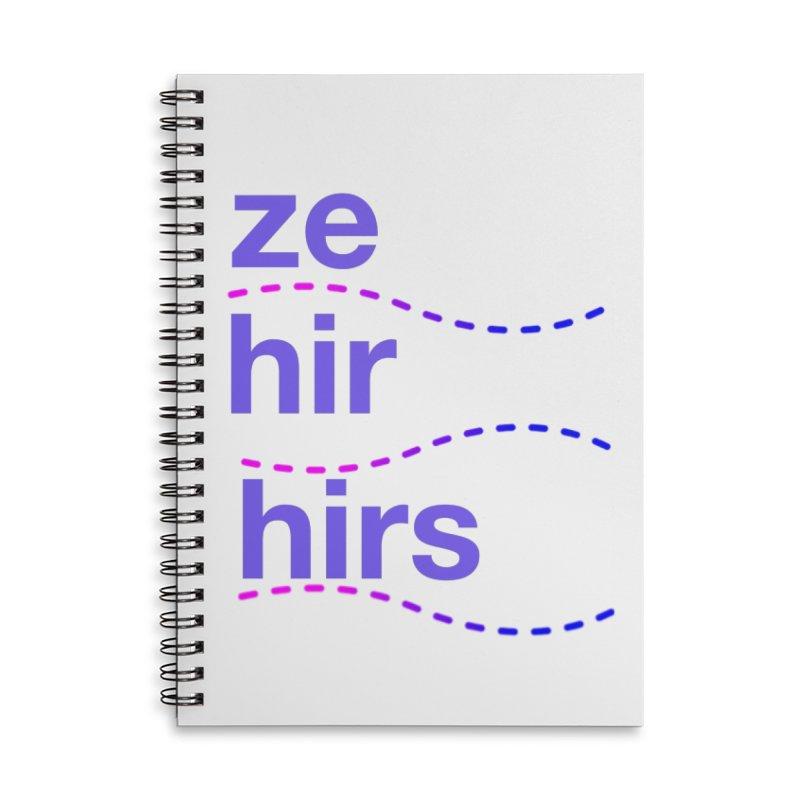 TCH ze hir swag Accessories Lined Spiral Notebook by Transchance Health's Artist Shop