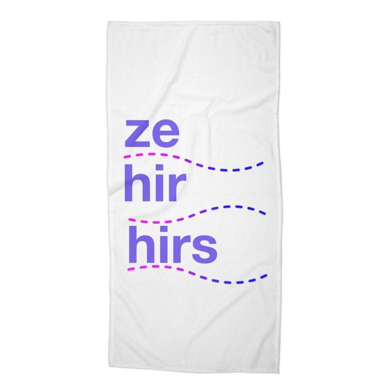 TCH ze hir swag Accessories Beach Towel by Transchance Health's Artist Shop