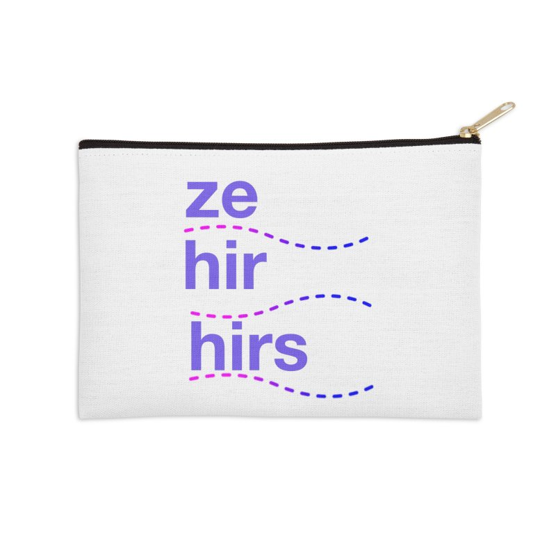 TCH ze hir swag Accessories Zip Pouch by Transchance Health's Artist Shop
