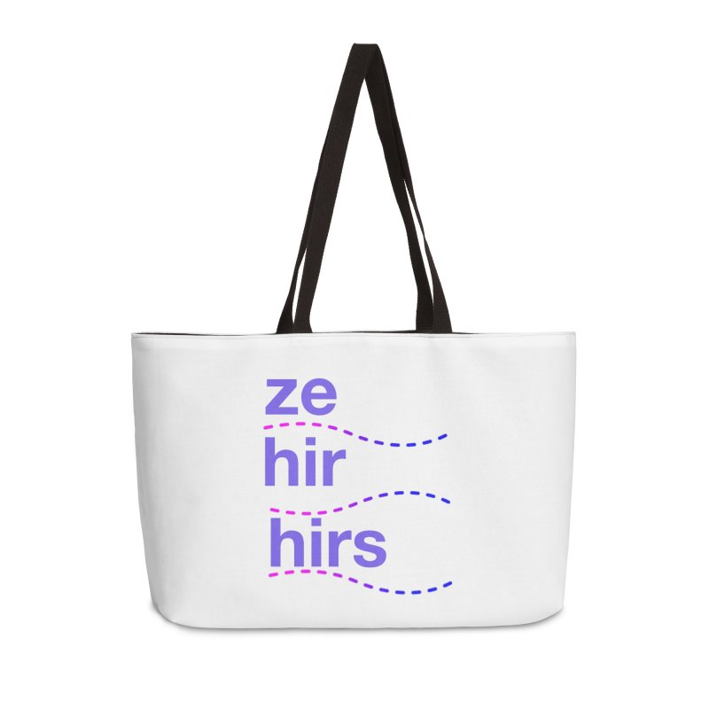 TCH ze hir swag Accessories Weekender Bag Bag by Transchance Health's Artist Shop