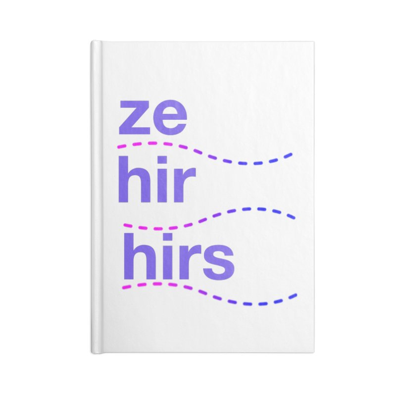 TCH ze hir swag Accessories Lined Journal Notebook by Transchance Health's Artist Shop