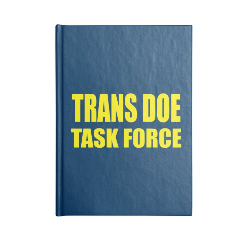 TDTF uniform Accessories Lined Journal Notebook by Trans Doe Task Force